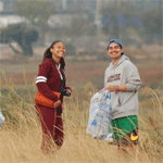 Students at Coastal Cleanup day